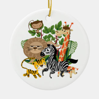 Animal Safari Christmas Ornament