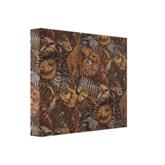 ANIMAL SAFARI  JUNGLE WRAPPED CANVAS GALLERY WRAPPED CANVAS