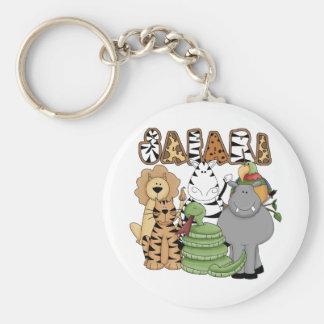 Animal Safari Key Chains
