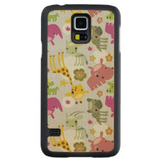 animal safari pattern maple galaxy s5 case