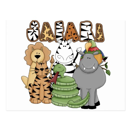 Animal Safari Postcard