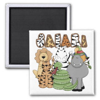 Animal Safari Square Magnet