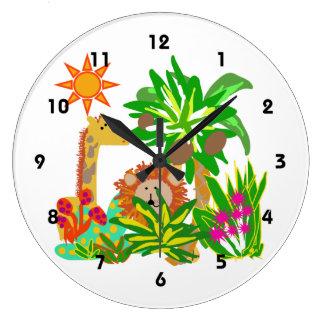 Animal Safari Wall Clock