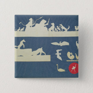 Animal Scenes 15 Cm Square Badge