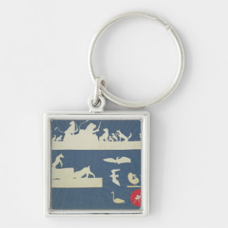 Animal Scenes Key Ring