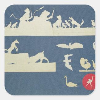 Animal Scenes Square Sticker