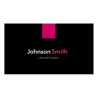 Animal Scientist Modern Rose Pink Pack Of Standard Business Cards