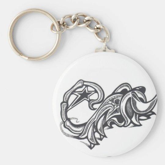 animal scorpion tribal star tattoo key ring