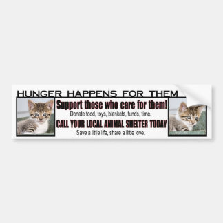 Animal Shelter Support Bumper Sticker
