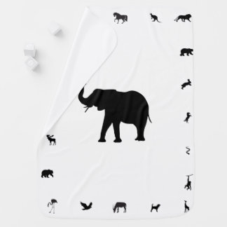 Animal Silhouette Baby Blanket