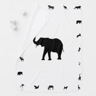 Animal Silhouette Baby Blanket