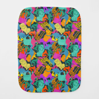 Animal Silhouettes Pattern Burp Cloth