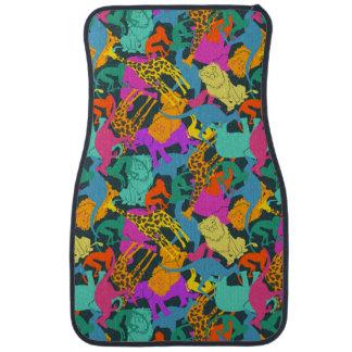Animal Silhouettes Pattern Car Mat
