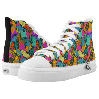 Animal Silhouettes Pattern High Tops
