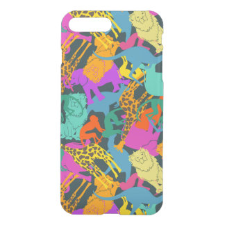 Animal Silhouettes Pattern iPhone 8 Plus/7 Plus Case