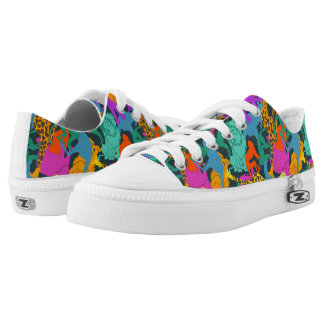 Animal Silhouettes Pattern Low Tops