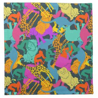 Animal Silhouettes Pattern Napkin