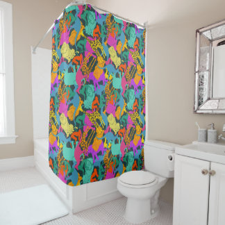 Animal Silhouettes Pattern Shower Curtain
