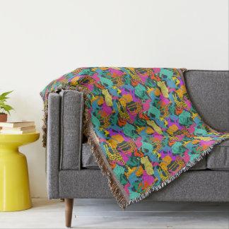 Animal Silhouettes Pattern Throw Blanket