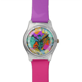 Animal Silhouettes Pattern Watch