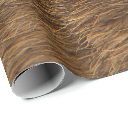 Animal Skin Brown Abstract Bear Fur VIP Wrapping