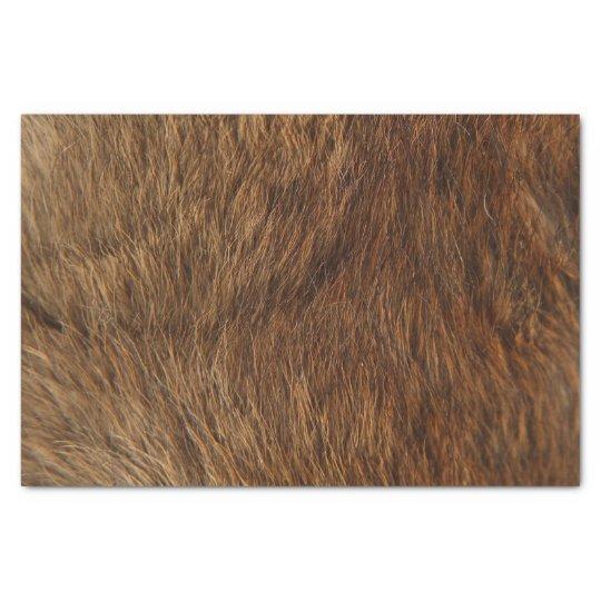 Animal Skin Brown Abstract Bear Minimal Small Tissue