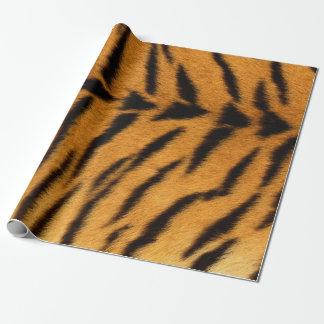 Animal Skin Brown Black Tiger Safari Fur VIP Wrapping Paper