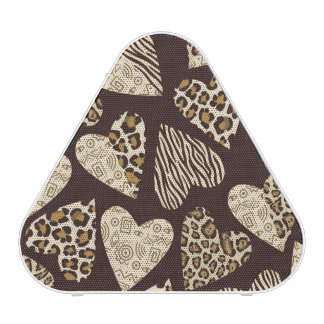 Animal skin with hearts