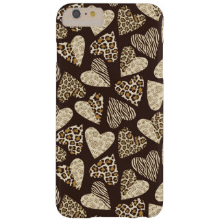 Animal skin with hearts barely there iPhone 6 plus case