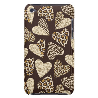Animal skin with hearts barely there iPod cases