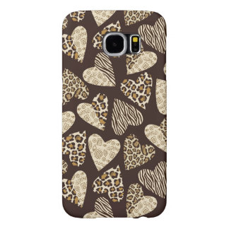 Animal skin with hearts samsung galaxy s6 cases