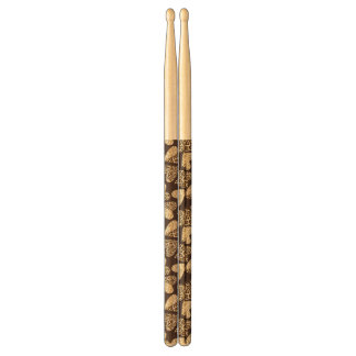 Animal skin with hearts drumsticks