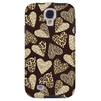Animal skin with hearts galaxy s4 case