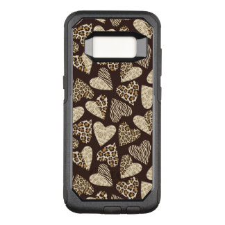 Animal skin with hearts OtterBox commuter samsung galaxy s8 case