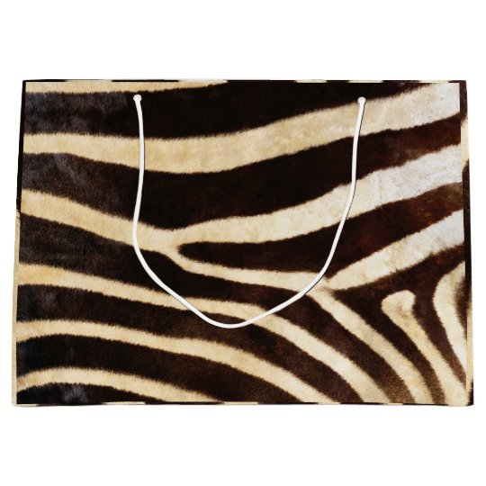 Animal Skin Zebra Safari Brown Whit Black Large