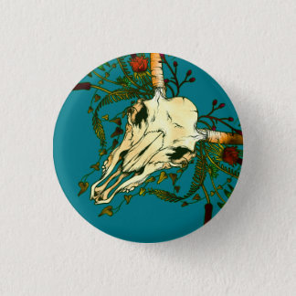 Animal Skull 3 Cm Round Badge