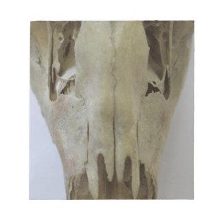 animal skull notepad
