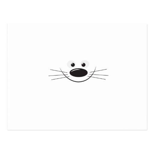 Animal smile postcard