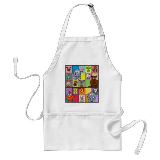 Animal Squares Adult Apron