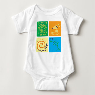 Animal Squares Baby Bodysuit