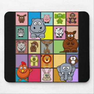 Animal Squares Mousepad