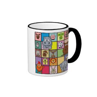Animal Squares Mugs