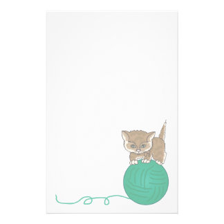 Animal Stationary Pet Lovers Kitten Stationary Personalised Stationery