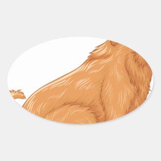 Animal Oval Sticker