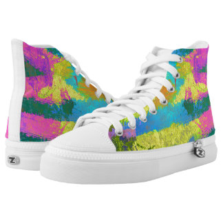 Animal Stripes wild bright style Printed Shoes