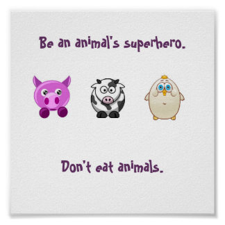 Animal Superhero Poster
