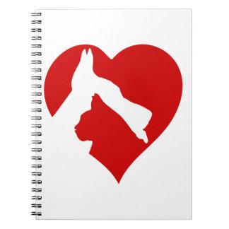 Animal tenderness. notebook