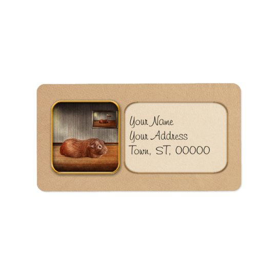Animal - The guinea pig Address Label