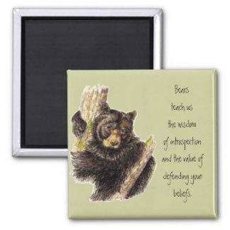Animal Totem, Bears Nature, Spirit Guide Square Magnet