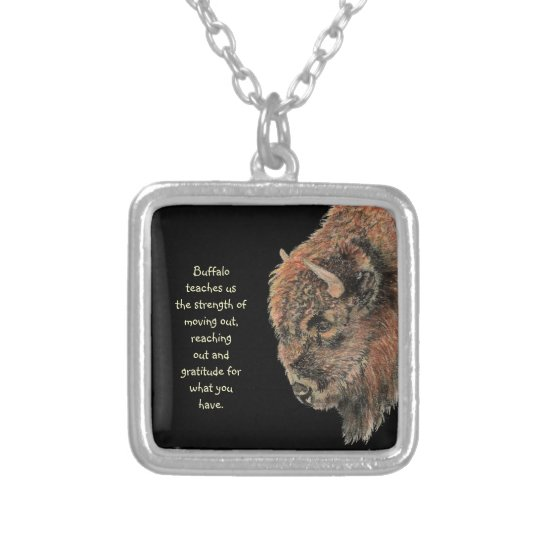 Animal Totem Spiritual, Bison, Buffalo Inspiration Silver Plated